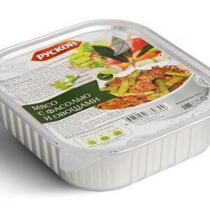 Мясо с фасолью и овощами Рускон