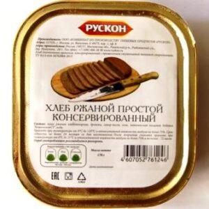 Хлеб ржаной простой консервированный