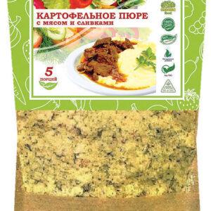 Картофельное пюре с мясом и сливками